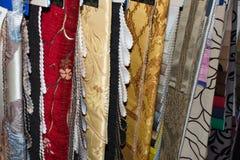 Próbki tapicerowanie tkaniny Zdjęcie Stock