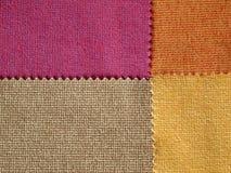 Próbki tkaniny brzmienia Gorący kolor fotografia royalty free