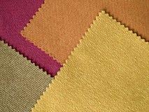 Próbki tkaniny brzmienia koloru Gorąca warstwa zdjęcia stock