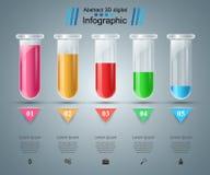 Próbna tubka eksperymenty Biznesowy Infographics Zdjęcie Royalty Free