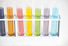 Próbne chemii Tubki Obrazy Stock