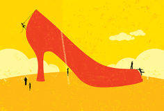 Próbować wypełniać dużych buty ilustracji