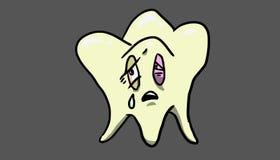 Próchnica ząb, ilustracja Fotografia Royalty Free