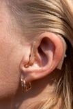 Prótese auditivas de Digitas Fotografia de Stock Royalty Free