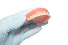 prótesis del diente Imagen de archivo libre de regalías