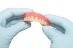 Prótesis del diente imagenes de archivo