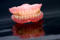 Prótesis dental Fotografía de archivo libre de regalías
