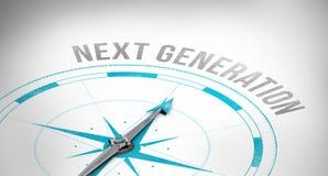 Próxima geração contra o compasso Imagens de Stock Royalty Free