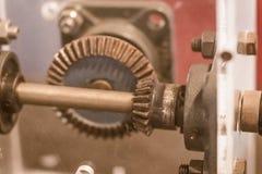 Prövkopia av uppsättningen för fasat kugghjul Fasade kugghjul är kugghjul var yxanollan Arkivfoton