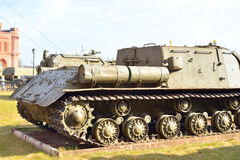 100 prövkopia för vapen SU-100 för mm självgående i 1944 Arkivbilder