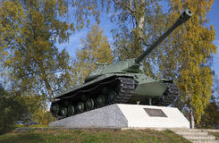 Prövkopia 1945 Priozersk, Leningrad region för behållare IS-3 Fotografering för Bildbyråer