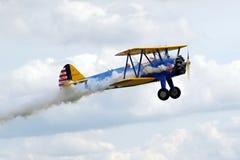 Prövkopiaflygplanairshow Royaltyfri Fotografi