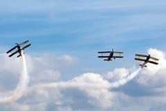 Prövkopiaflygplanairshow Arkivbild