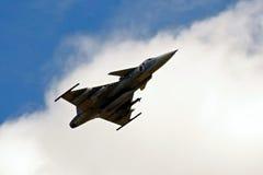 Prövkopiaflygplanairshow Royaltyfria Bilder