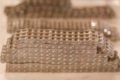Prövkopiaprodukt av rullkedjor med tandhjul Kedjor och sproc Fotografering för Bildbyråer