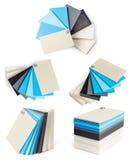 Prövkopior av isolerade plast- Arkivfoton