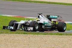 Prüfen Sie F1 Mugello Nico Rosberg Anno 2012 Lizenzfreie Stockbilder