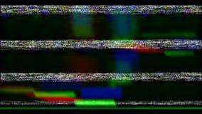 Prüfen Sie Fernsehen Prüfen Sie Signal VHS Fehler-Video stock video