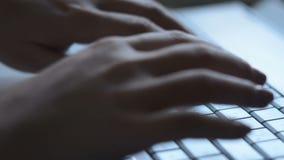 Prüfen Sie Satz auf der Tastatur stock footage