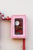 Prüfer des Wasserberieselungsanlagen- und -feuerbekämpfungssystems Lizenzfreies Stockbild