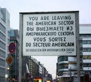 Prüfpunkt Charlie - Berlin lizenzfreies stockbild