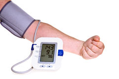 Prüfung des Blutdruckes Stockfoto