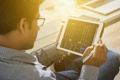 Prüfung von Daten lizenzfreies stockfoto