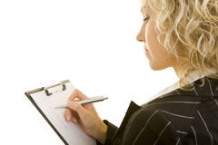 Prüfungkästen auf einem Klemmbrett Lizenzfreie Stockfotografie