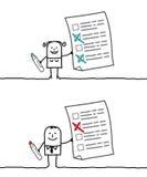 Prüfungliste Stockbilder