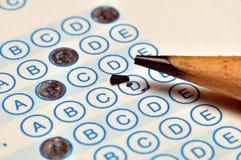 Prüfungs-Blatt-Makro Stockfotos