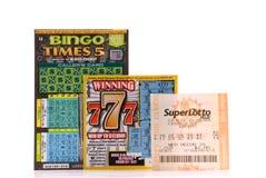 Prüfungs-Glück mit der Lotterie lizenzfreies stockbild