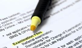 Prüfungsgebühren Lizenzfreies Stockbild