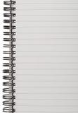 Prążkowana Notepad strona Obrazy Royalty Free