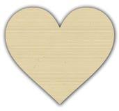 Prążkowany papierowy serce Fotografia Royalty Free
