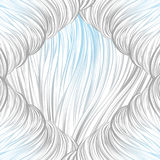 Prążkowany szary błękit abstrakcjonistyczny deseniowy bezszwowy prążkowana sztuka pociągany ręcznie Zdjęcia Stock