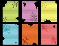prążkowanych notatek papierowy set drzejący Obrazy Stock
