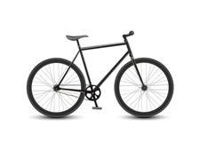 Prędkość Bieżny bicykl na Białym tle Zdjęcia Royalty Free