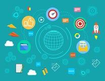 Prędkość Internetowy dostęp Szybka wymiana elektroniczna informacja Pojęcie projekta ilustraci zapasu use wektor twój Fotografia Royalty Free