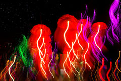 Prędkość parasola neonowy światło Zdjęcie Stock