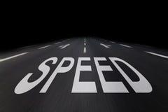 Prędkość pisać na asfalcie Fotografia Stock