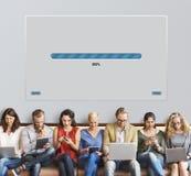 Prędkość postępu baru ikony technologii pojęcie Fotografia Stock