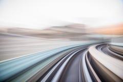 Prędkość ruch w miastowym autostrady drogi tunelu Zdjęcie Royalty Free