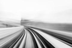 Prędkość ruch w miastowym autostrady drogi tunelu Zdjęcie Stock