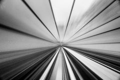Prędkość ruch w miastowym autostrady drogi tunelu Obraz Royalty Free