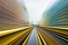 Prędkość ruch w miastowym autostrady drogi tunelu Obrazy Stock
