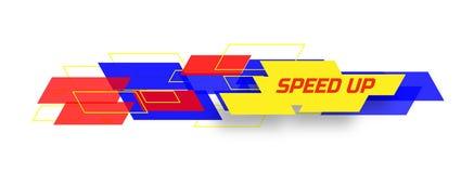 Prędkość w górę projekta pojęcia Obraz Royalty Free