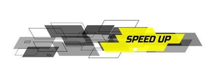 Prędkość w górę projekta pojęcia Obraz Stock