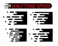 Prędkość wykłada set odizolowywającego na bielu Ruchu skutek Fotografia Royalty Free