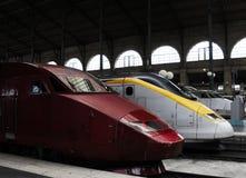prędkość wysocy pociągi Fotografia Stock