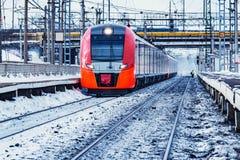 prędkość wysoki nowożytny pociąg fotografia royalty free
